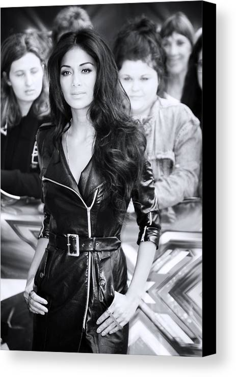 Jezcself Canvas Print featuring the photograph Nicole Scherzinger 22 by Jez C Self