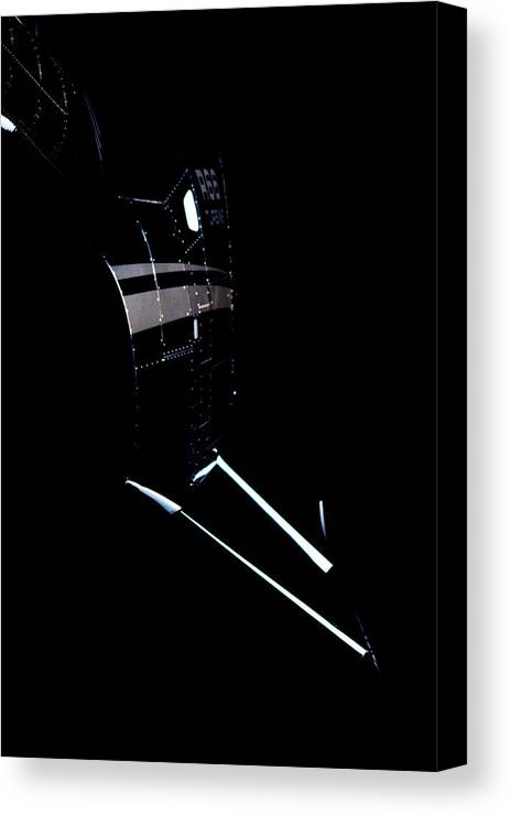 Robinson's R66 Turbine Helicopter Canvas Print featuring the photograph Night 66 by Paul Job