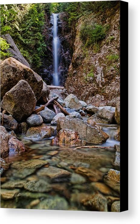 Beautiful Canvas Print featuring the photograph Norvan Falls by James Wheeler