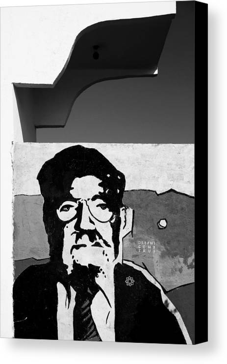 Jezcself Canvas Print featuring the photograph Not Staring At You At All by Jez C Self
