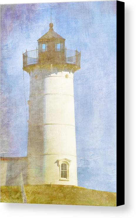Light Canvas Print featuring the photograph Nubble Lighthouse by Carol Leigh