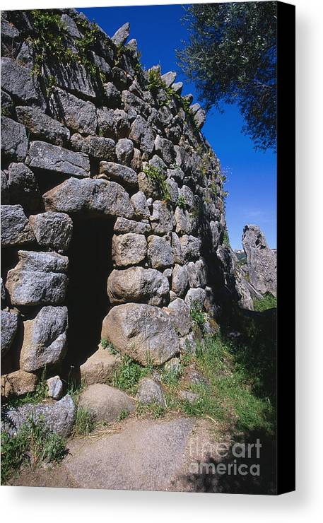 Ancient Canvas Print featuring the photograph Nuraghe by Chris Selby