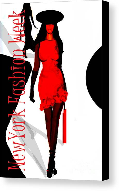 New York Fashion Show Canvas Print featuring the digital art Nyfw by Jose Luis Reyes