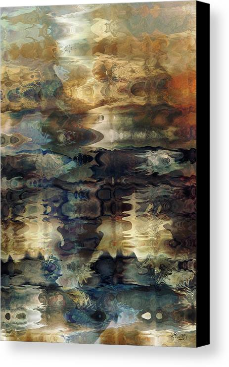 Fractals Canvas Print featuring the digital art Off The Beaten Path by Kim Redd