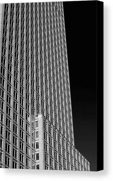 Building Canvas Print featuring the photograph Office Tower Montreal, Quebec, Canada by David Chapman