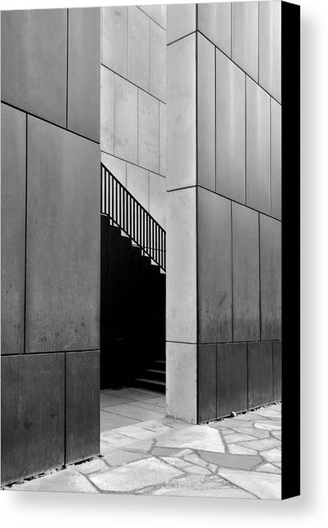 Architectural Abstract Canvas Print featuring the photograph Oklahoma City Memorial N Harvey Ave by KM Corcoran