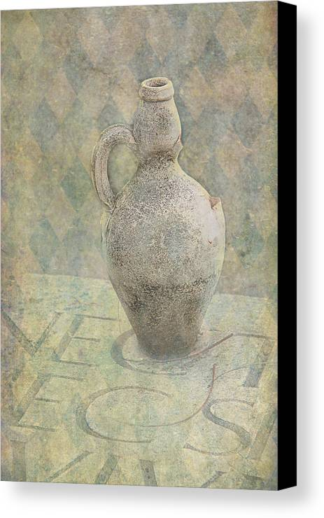 Old Canvas Print featuring the photograph Old Pitcher Abstract by Garry Gay
