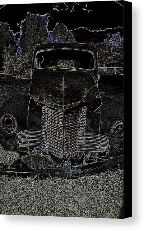 Old Canvas Print featuring the photograph Old Truck by Ian Ramsay