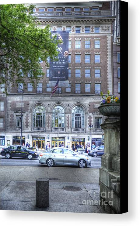 Chicago Canvas Print featuring the photograph Orchestra Hall - Chicago by David Bearden