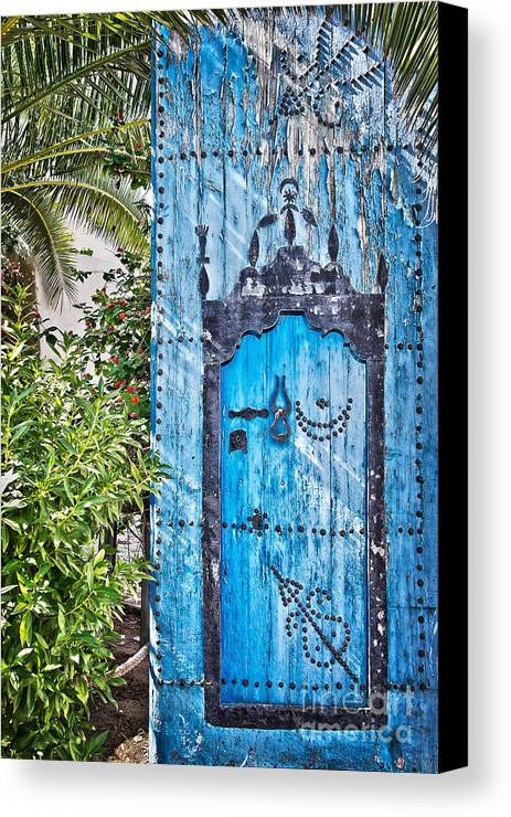 Door Canvas Print featuring the photograph Oriental Garden by Delphimages Photo Creations