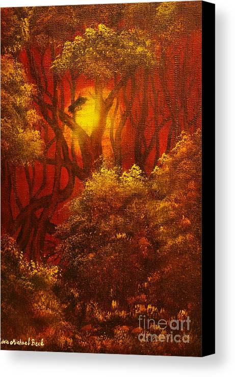 Fairytale Canvas Print featuring the painting Fairytale Forest- Original Sold - Buy Giclee Print Nr 27 Of Limited Edition Of 40 Prints by Eddie Michael Beck