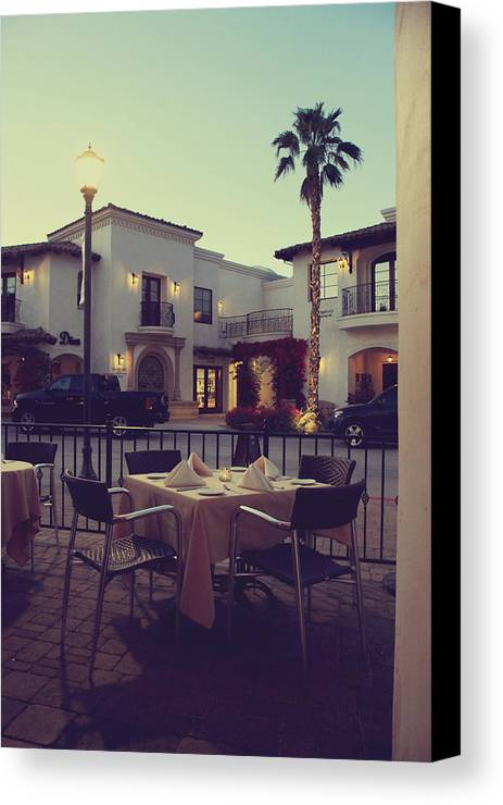 La Quinta Canvas Print featuring the photograph Outside Dining by Laurie Search