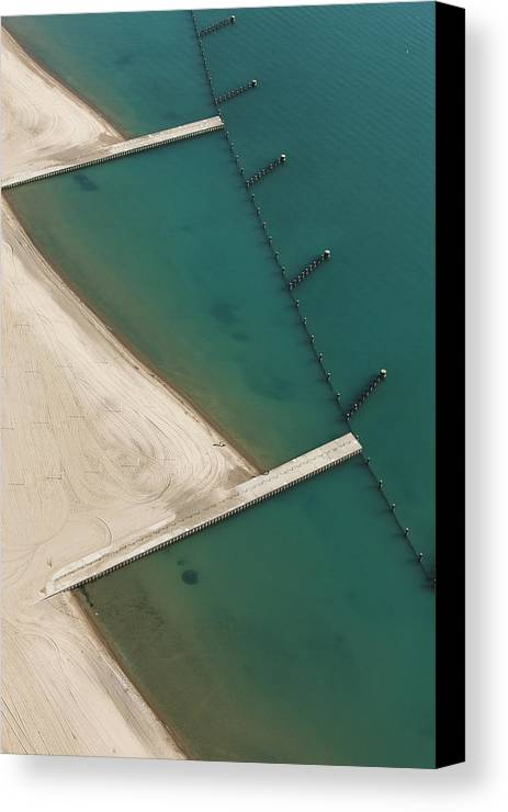 Aerial Canvas Print featuring the photograph Overhead Beach by Joe Wigdahl