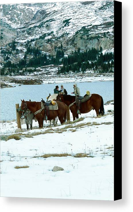 Landscape Canvas Print featuring the photograph Packing Up by Eric Glaser