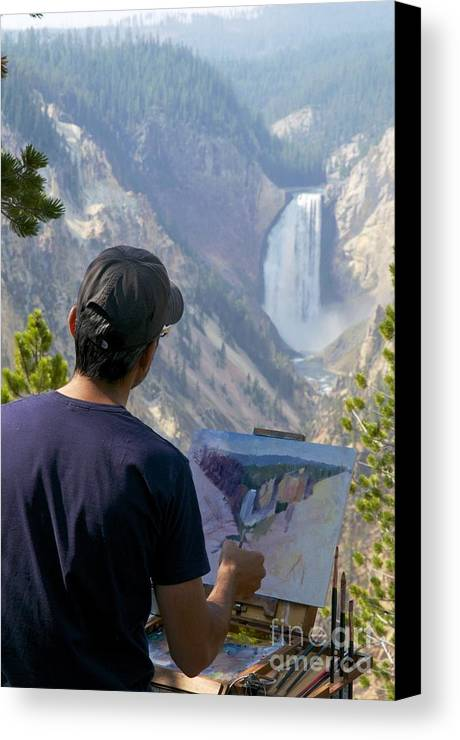 Painting Canvas Print featuring the photograph Painting Waterfall by Sean Stauffer