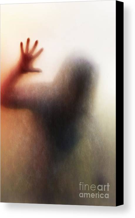 Blood Canvas Print featuring the photograph Panic Silhouette by Carlos Caetano