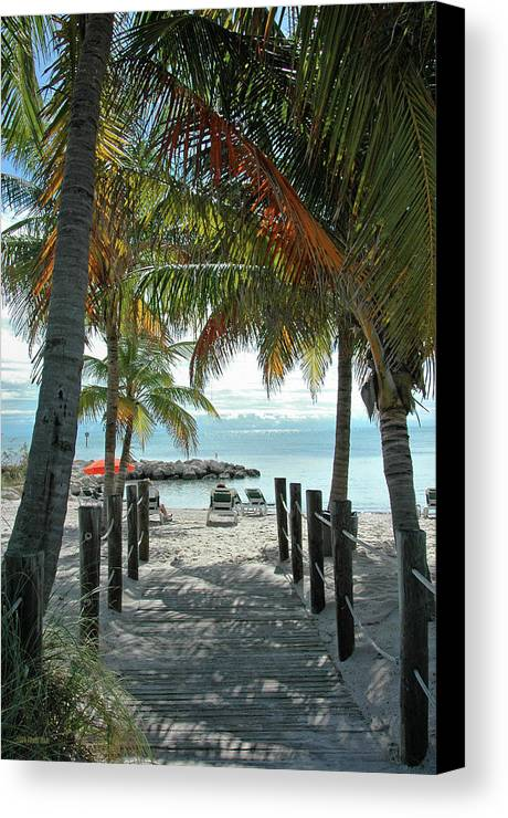 Beach Canvas Print featuring the photograph Path To Smathers Beach - Key West by Frank Mari