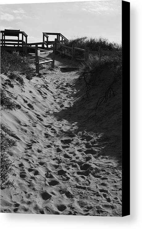 Dunes Canvas Print featuring the photograph Pathway Through The Dunes by Luke Moore