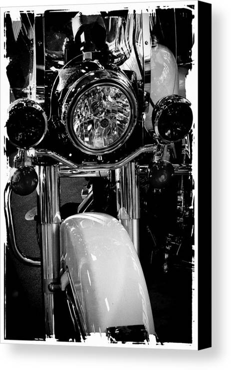 Classic Cycle Canvas Print featuring the photograph Police Harley II by David Patterson