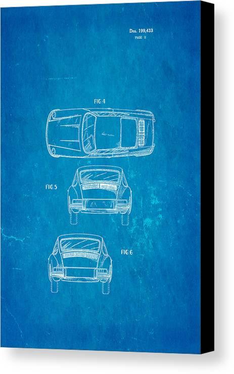 Porsche 911 car 2 patent art 1964 blueprint canvas print canvas automotive canvas print featuring the photograph porsche 911 car 2 patent art 1964 blueprint by ian malvernweather Gallery