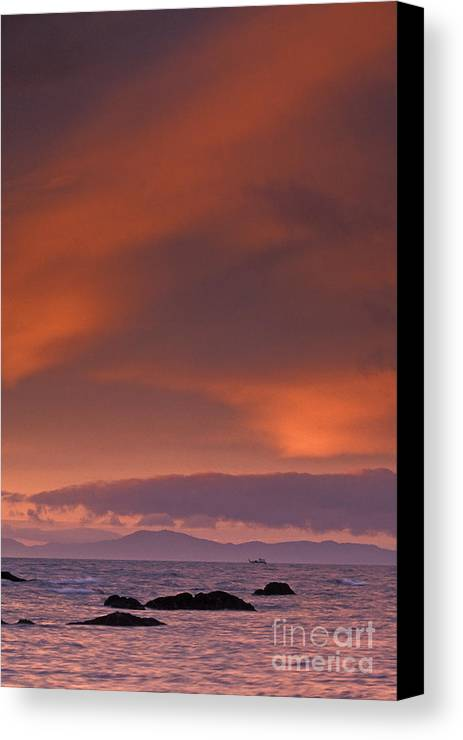Sun Canvas Print featuring the photograph Prince William Sound Sunrise by Tim Grams