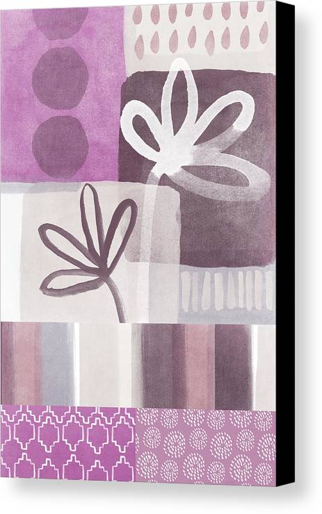 Hope Canvas Print featuring the mixed media Purple Patchwork- Contemporary Art by Linda Woods