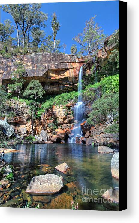 Pam B Canvas Print featuring the photograph Rainbow Falls by Pam B
