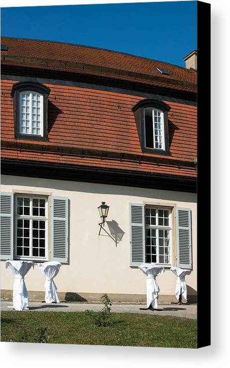 Bar Canvas Print featuring the photograph Ready For Standing Reception by Frank Gaertner
