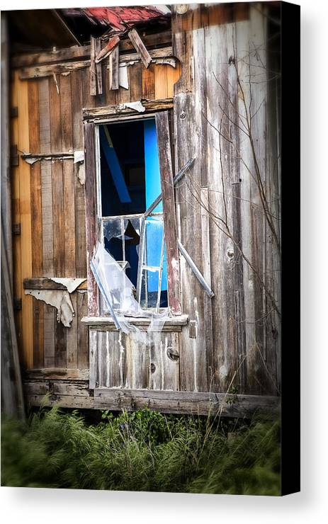 Abandoned Canvas Print featuring the photograph Red And White And Blue by Caitlyn Grasso