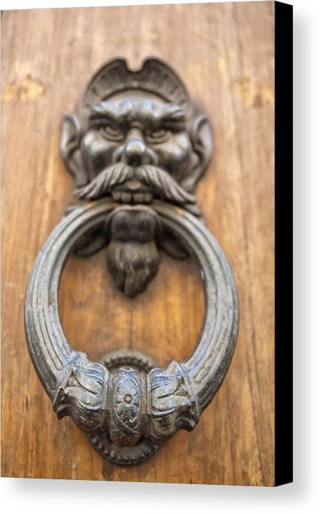 Architecture Canvas Print featuring the photograph Renaissance Door Knocker by Melany Sarafis
