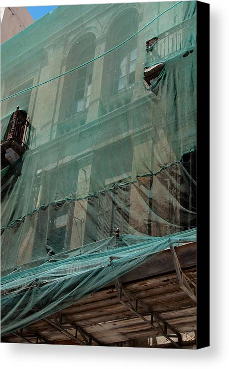 Architecture Canvas Print featuring the photograph Restoration Of A Villa by Frank Gaertner
