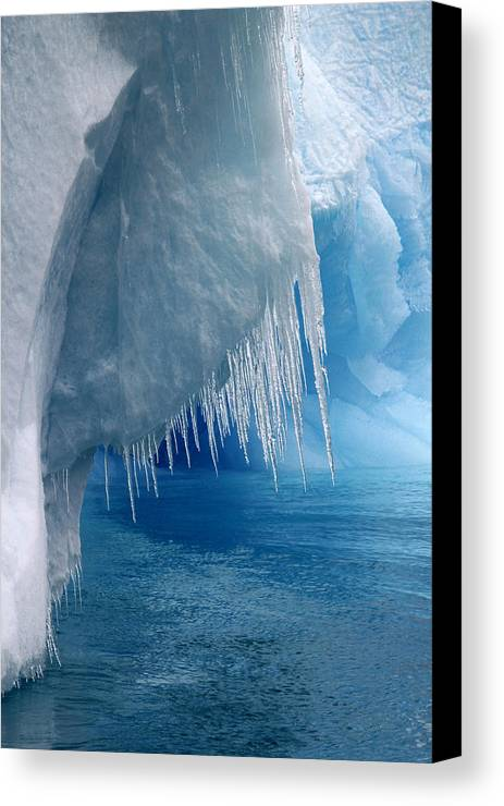 Antarctica Canvas Print featuring the photograph Rhapsody In Blue by Ginny Barklow