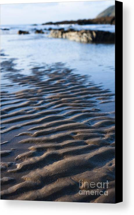 Autumn Canvas Print featuring the photograph Ripples In The Sand by Anne Gilbert