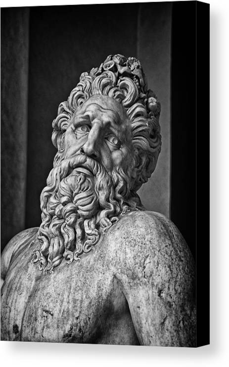 Arno Canvas Print featuring the photograph River God Arno by David Pringle