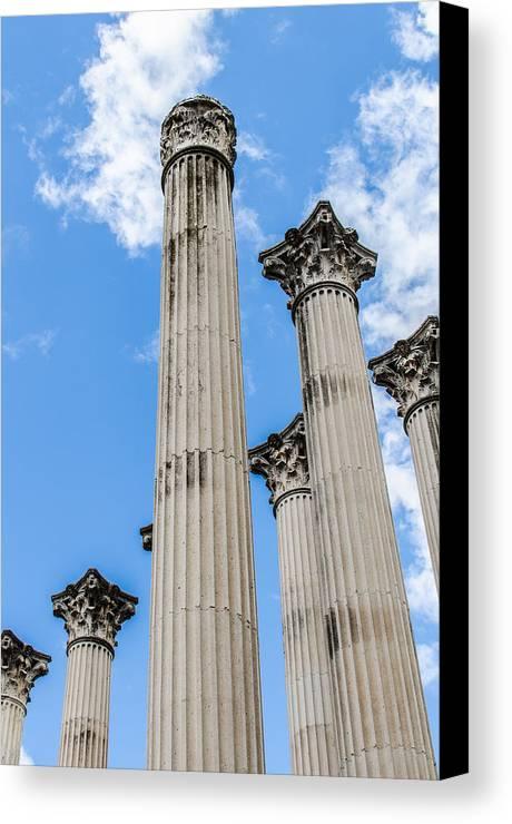 Roman Canvas Print featuring the photograph Roman Ruins by Andrea Mazzocchetti