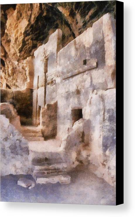 Indian Canvas Print featuring the photograph Ruins by Michelle Calkins