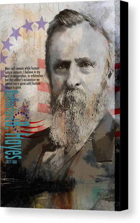 Rutherford B. Hayes Canvas Print featuring the painting Rutherford B. Hayes by Corporate Art Task Force