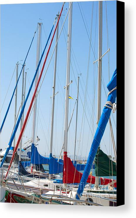 Sailing Canvas Print featuring the photograph Sailboat Masts by Artist and Photographer Laura Wrede