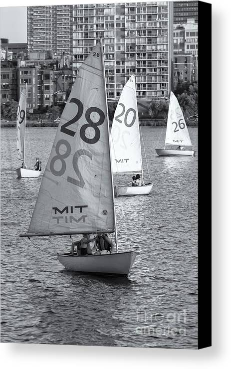 Clarence Holmes Canvas Print featuring the photograph Sailboats On The Charles River II by Clarence Holmes