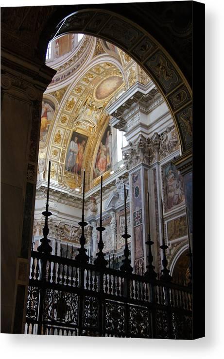 Basilica Santa Maria Maggiore Canvas Print featuring the photograph Santa Maria Maggiore by Debi Demetrion