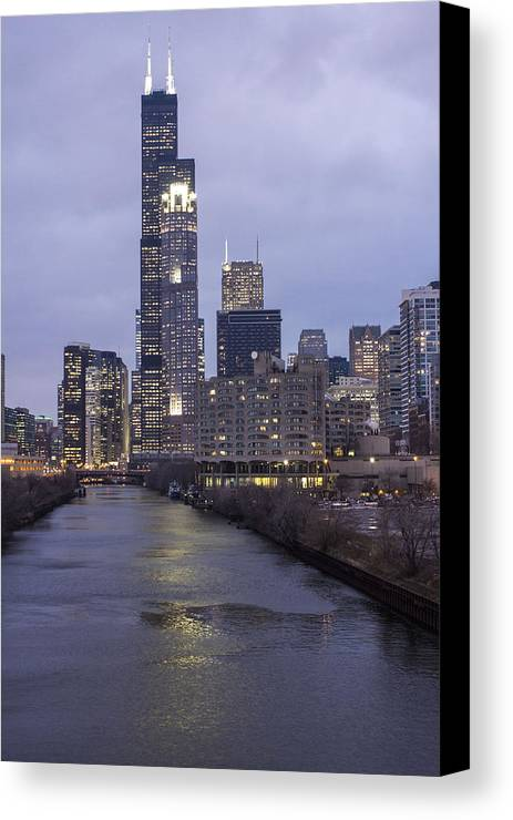 Chicago Canvas Print featuring the photograph Sears Tower Or Willis Tower by John McGraw
