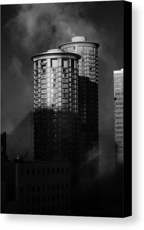 Montana Canvas Print featuring the photograph Seattle Towers by Paul Bartoszek
