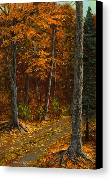 Landscape Canvas Print featuring the painting Seldom Used by Frank Wilson
