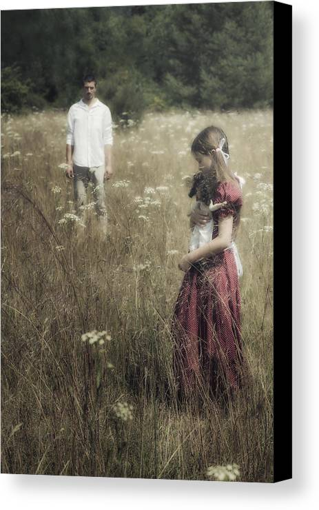 Girl Canvas Print featuring the photograph Seperation by Joana Kruse