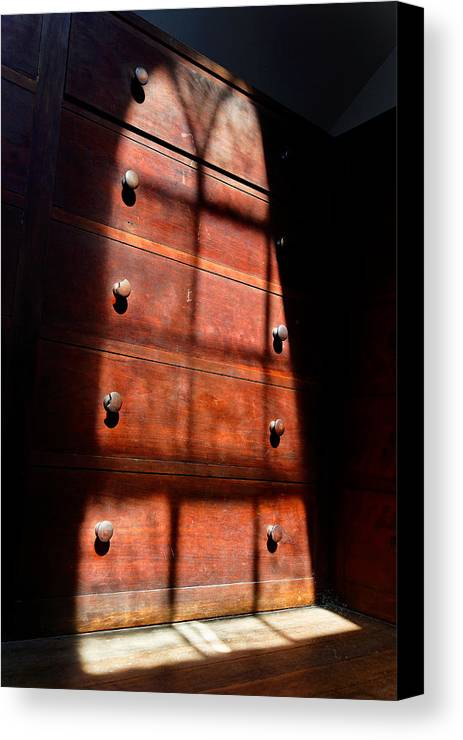 Shaker Canvas Print featuring the photograph Shadows On Chest by Lone Dakota Photography