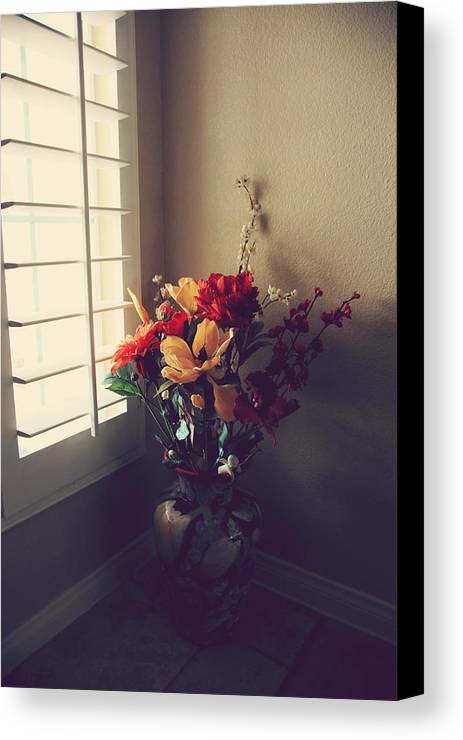 Still Life Canvas Print featuring the photograph Shutters by Laurie Search