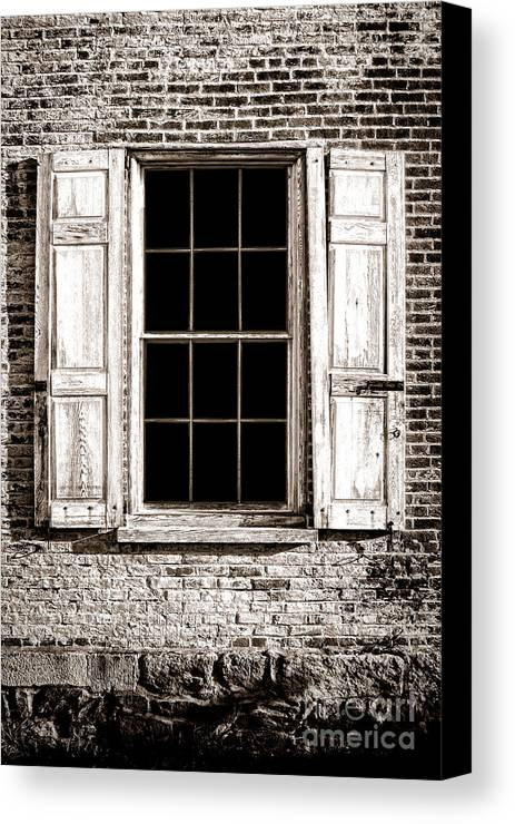 Window Canvas Print featuring the photograph Shutters by Olivier Le Queinec