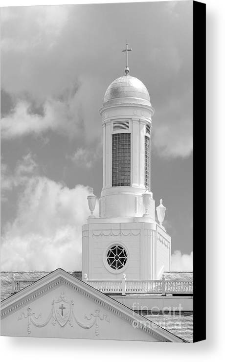 Albany Canvas Print featuring the photograph Siena College Siena Hall Cupola by University Icons