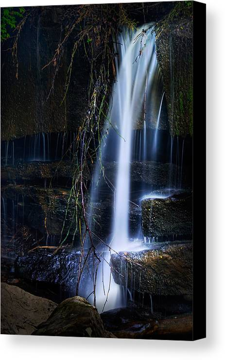 Waterfall Canvas Print featuring the photograph Small Waterfall by Tom Mc Nemar