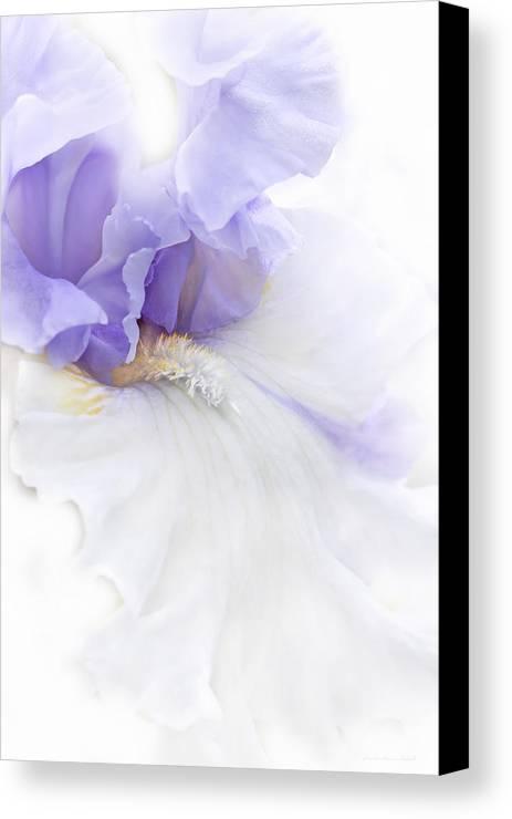 Iris Canvas Print featuring the photograph Softness Of A Lavender Iris Flower by Jennie Marie Schell
